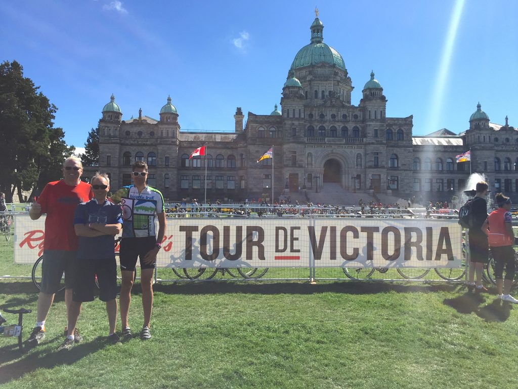 Finish line 2016 Tour de Victoria