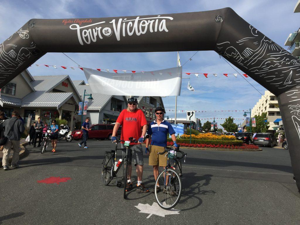 Start line 2017 Tour de Victoria