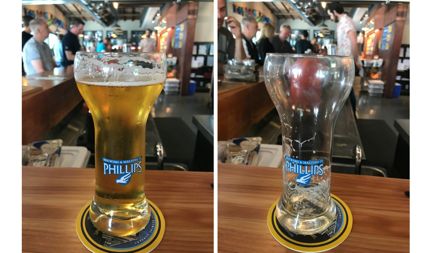 Phillips Beer Glasses