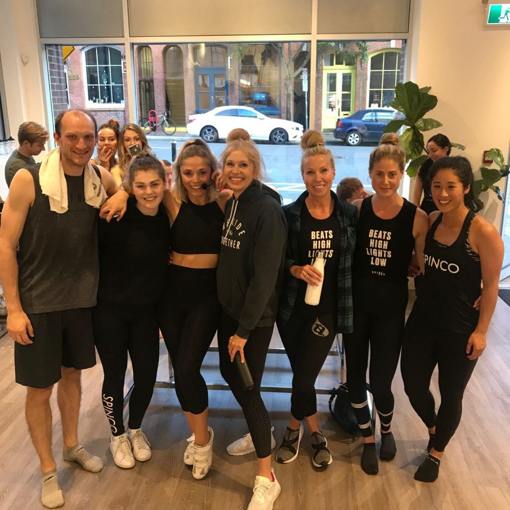 SPINCO spin class riders