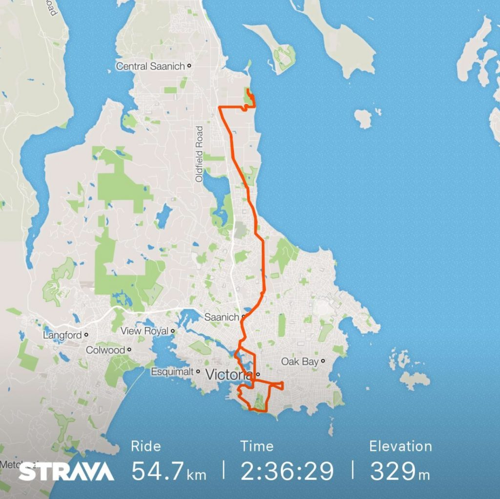 training - strava route map