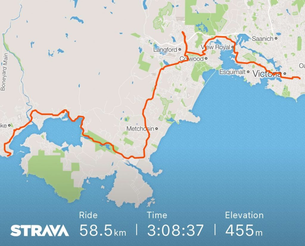 Training - Strava 60km