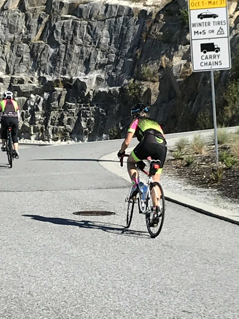 Sandy on West Vancouver hill climb